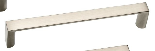 Castella Linear Planar Brushed Nickel Rounded Flat D Pull 128mm Handle