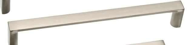 Castella Linear Planar Brushed Nickel Rounded Flat D Pull 160mm Handle