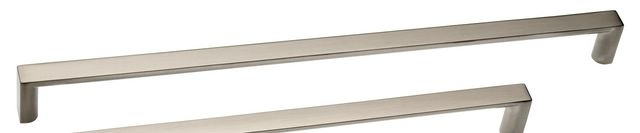 Castella Linear Planar Brushed Nickel Rounded Flat D Pull 288mm Handle