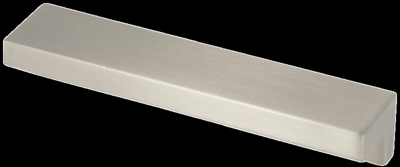 Castella Contemporary Angular Brushed Nickel Square Pull 96mm Handle
