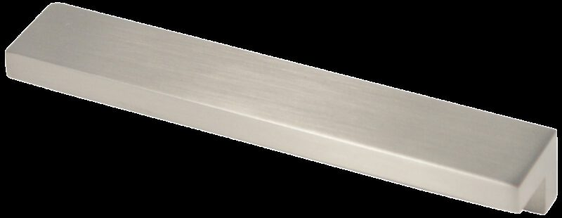 Castella Contemporary Angular Brushed Nickel Square Pull 128mm Handle