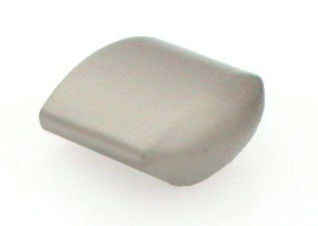Castella Retro Contour 24mm Flat Brushed Nickel Knob