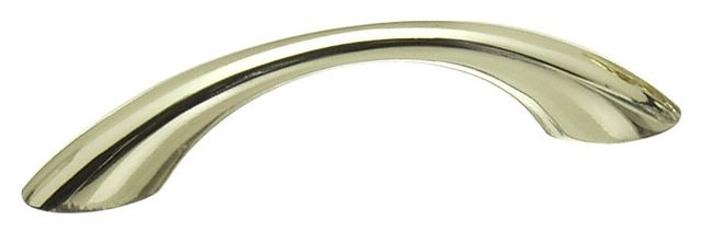 Castella Nostalgia Classic Polished Brass 128mm Tapered Bow C Pull Handle
