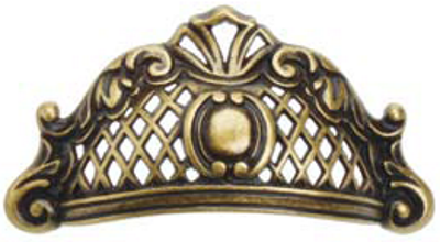 Castella Heritage Opera 64mm Antique Brass Cup Pull