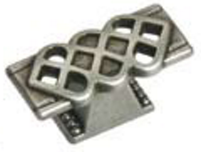 Castella Heritage Venetian Lattice Pewter 50mm Oblong Knob