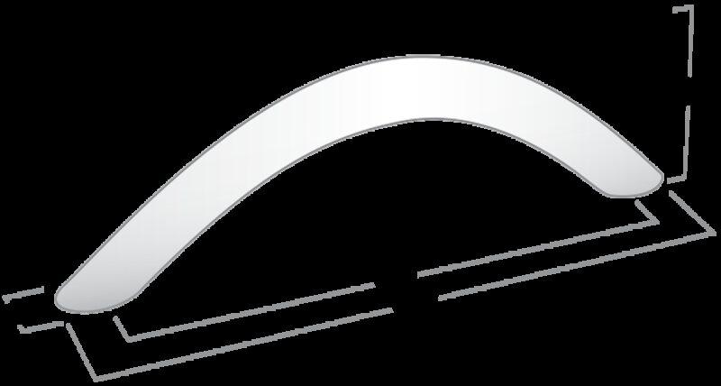 Castella Contour Eclipse Rounded Bow Satin Chrome 128mm Handle