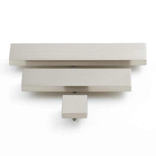 Castella Geometric Isometric Angular Brushed Nickel Square Pull 96mm Handle
