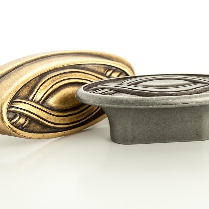 Castella Heritage Nouveau 64mm Antique Brass Cup Pull