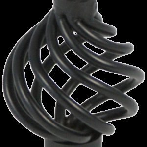 2045 Castella 34mm French Provincial Matt Black Wire Knob