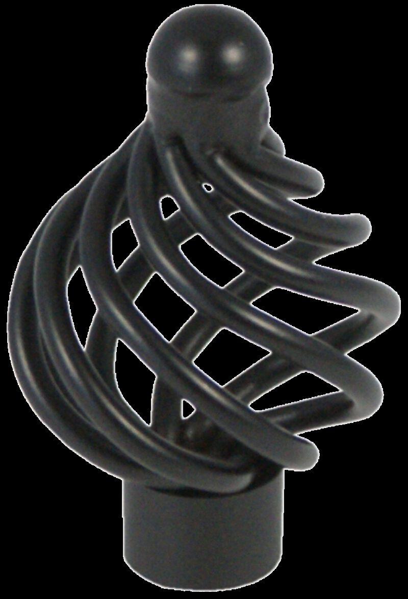 2045 Castella 34mm French Provincial Matt Black Wire Knob