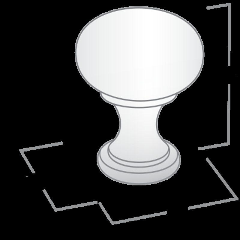 Castella Heritage Shaker Antique Brass 30mm Round Knob