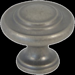 Castella Heritage Shaker Pewter34mm Fluted Knob