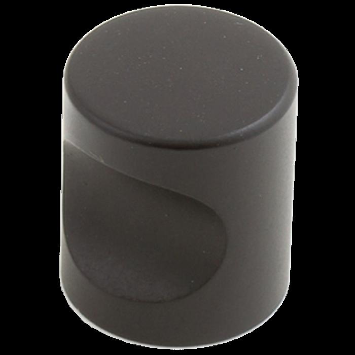 2167 Castella Minimal Micro Matt Black Cylinder 20mm Knob