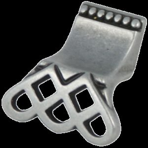 Castella Heritage Venetian Lattice Pewter 38mm Lip Pull Knob