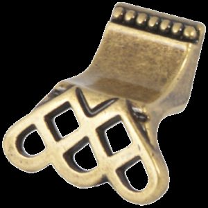 Castella Heritage Venetian Lattice Antique Brass 38mm Lip Pull Knob