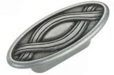 Castella Heritage Nouveau 32mm Oval Pewter Knob