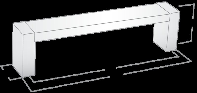 Castella Linear Mezzanine Insert Square Polished Chrome 96mm D Pull Handle
