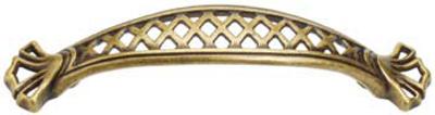 Castella Heritage Opera 96mm Antique Brass Bow Handle