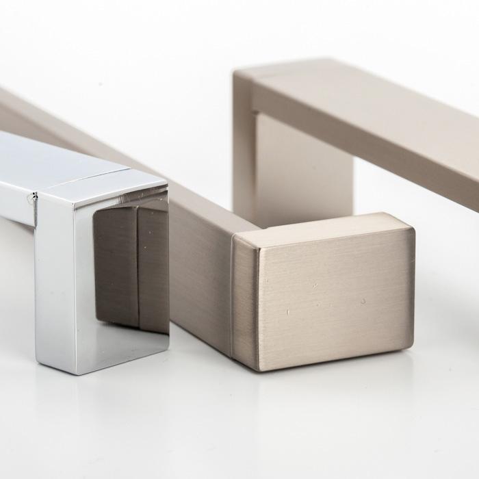 Castella Linear Mezzanine Insert Square Brushed Nickel 128mm D Pull Handle