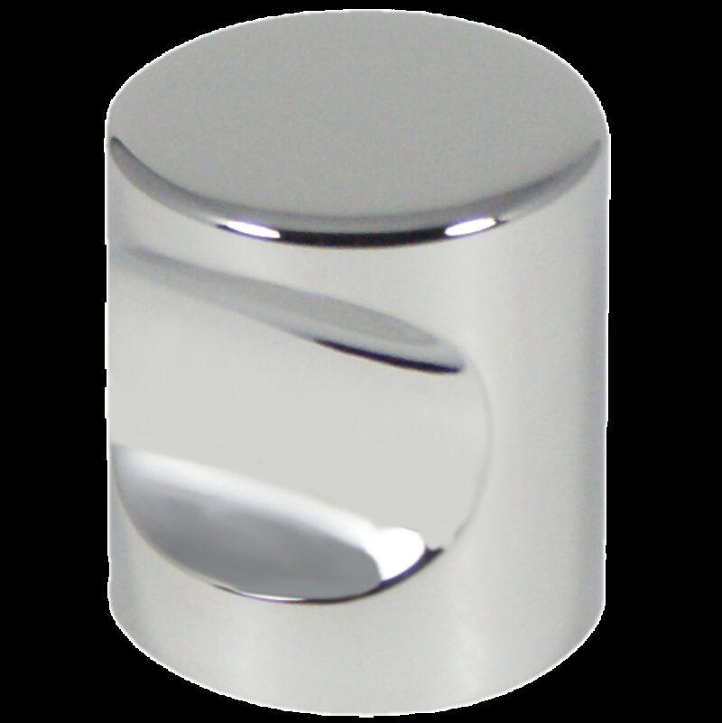 2480 Castella Minimal Micro Polished Chrome Cylinder 25mm Knob