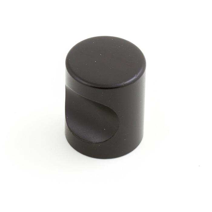 Castella Minimal Micro Matt Black Cylinder 25mm Knob