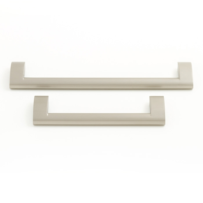 Castella Nostalgia Railway Brushed Nickel 128mm D Pull Handle