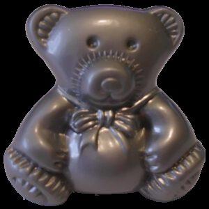 3759 Teddy Bear 28mm Silver Sand Knob