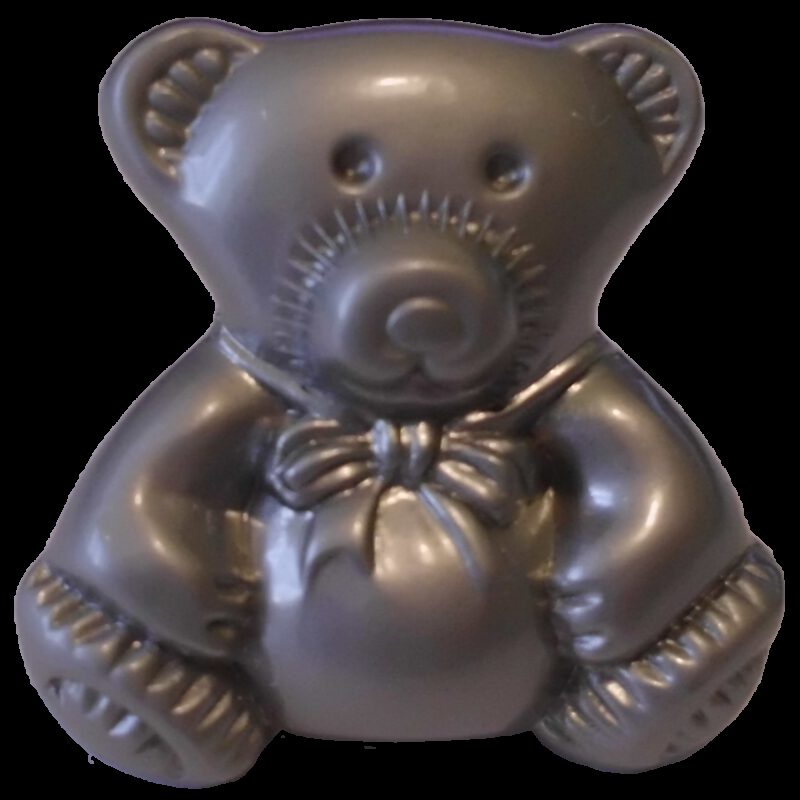 3759 Teddy Bear 28mm Silver Sand Knob
