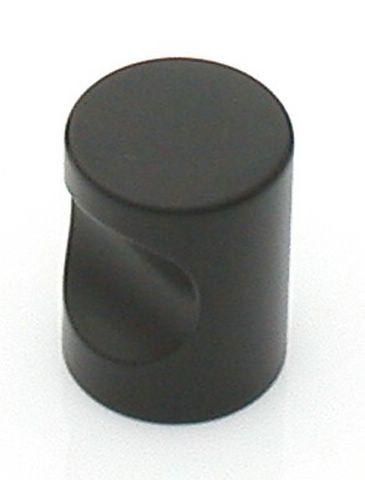 38 Castella Minimal Micro Matt Black Cylinder 20mm Knob