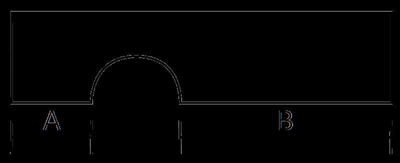 Castella Memphis 64mm Polished Chrome D Pull Handle