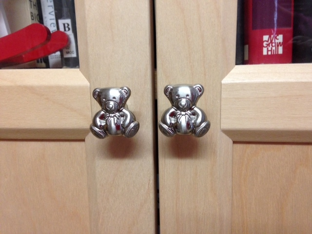 4265 Teddy Bear Brushed Stainless Steel 28mm Knob