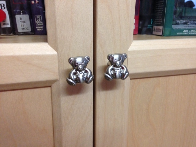 4266 Teddy Bear Brushed Stainless Steel 28mm Knob