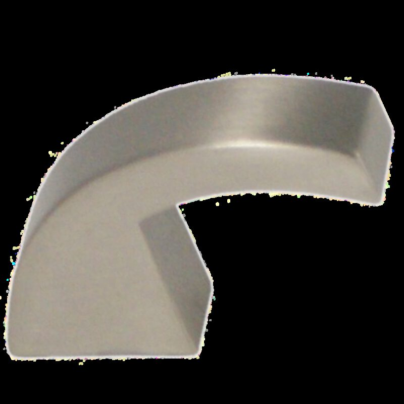 Castella Retro Narrow Curved Knob Brushed Nickel