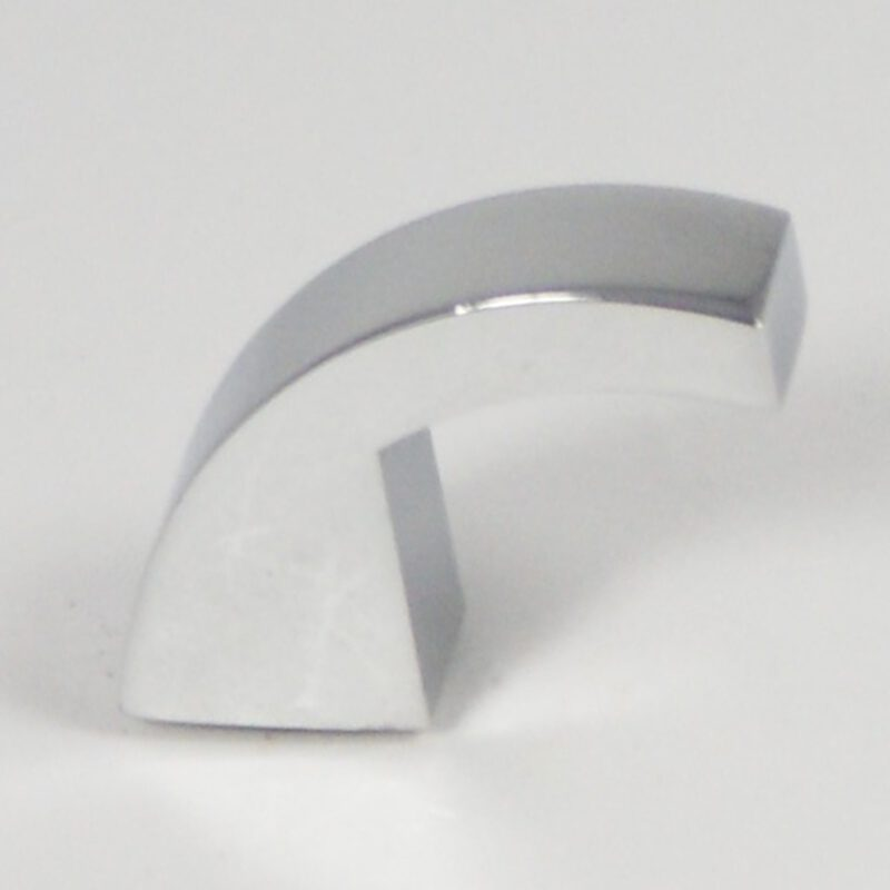 4473 Castella Retro Narrow Curved Knob Bright Chrome