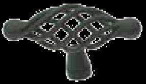 Castella Heritage French Provincial Matt Black 70mm Oval Wire T Knob