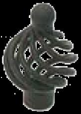 491 Castella Heritage French Provincial Matt Black 34mm Wire Knob