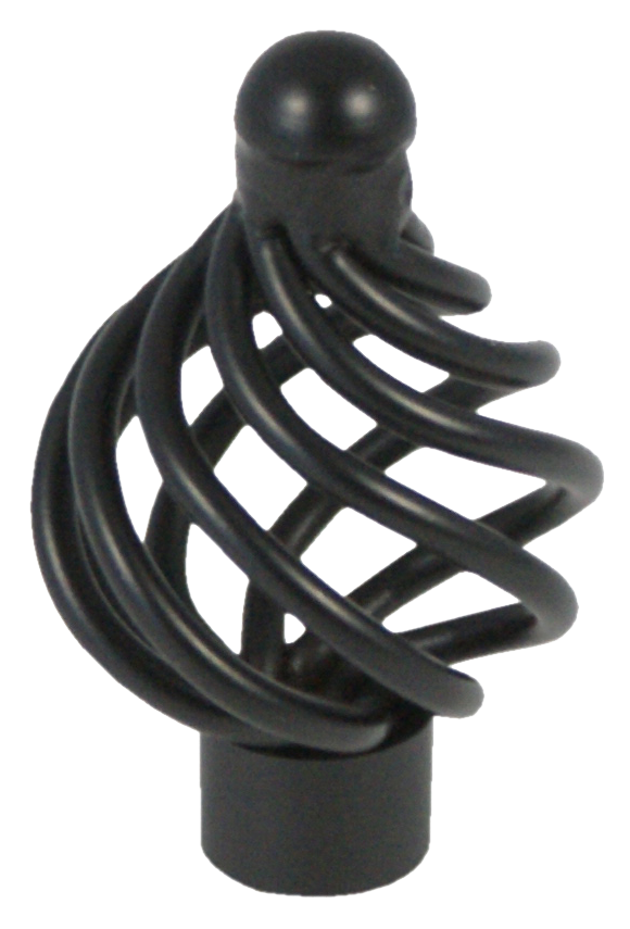 508 Castella Heritage French Provincial Matt Black 34mm Wire Knob