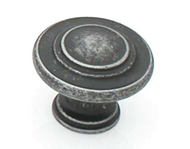 Castella Heritage Shaker Antique Black 34mm Fluted Knob