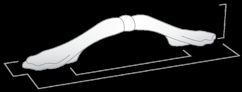Castella Heritage Shaker Pewter 76mm Bow Handle