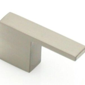 9 Castella Retro Narrow Flat 35mm Brushed Nickel Knob