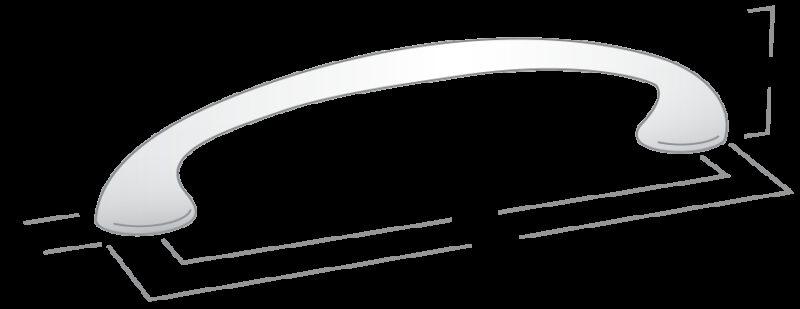 926 Castella Round Bow Satin Chrome 96mm Handle