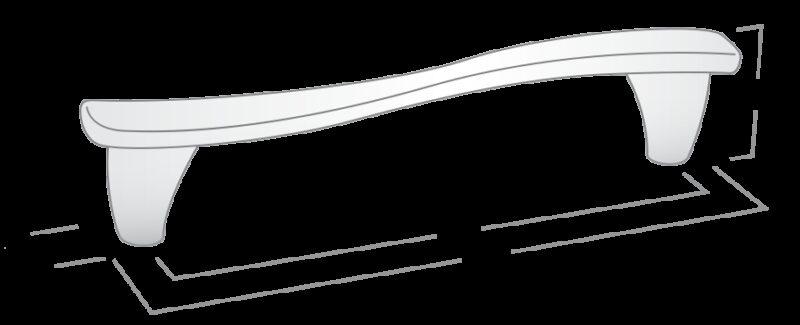 Castella Designer Wave Bright Chrome 96mm Handle