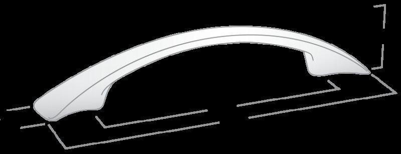 Castella Smoothed Bow Black Nickel 96mm Handle