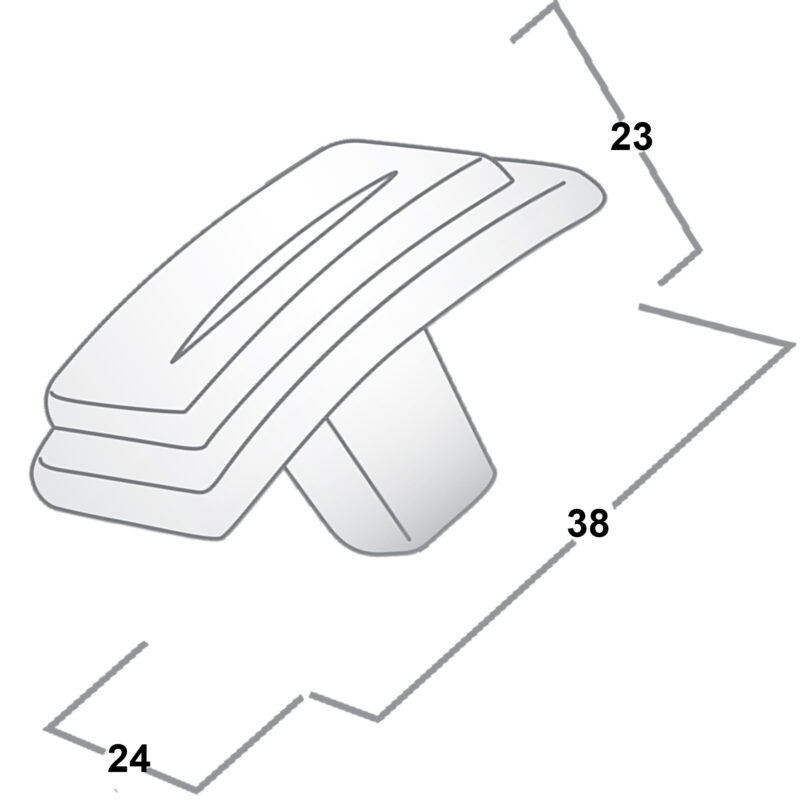 Castella Artisan Chisel 38mm Antique Brass Knob 086 038 03 Diagram