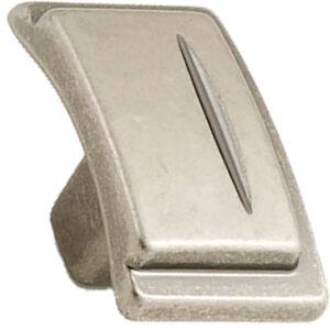 Castella Artisan Chisel 38mm Pewter Knob 086 038 14