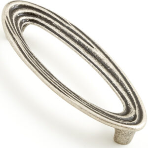 Castella Artisan Organic 128mm Pewter Oval Handle 096 128 14 2