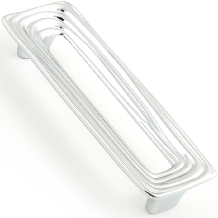 Castella Artisan Organic 128mm Polished Chrome Rectangle Handle 095 128 06 2