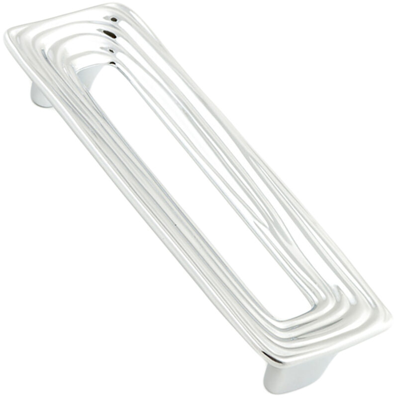 Castella Artisan Organic 128mm Polished Chrome Rectangle Handle 095 128 06