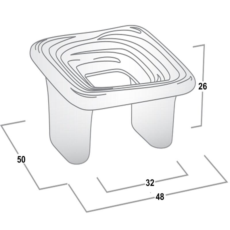 Castella Artisan Organic 32mm Pewter Knob 095 050 14 Diagram