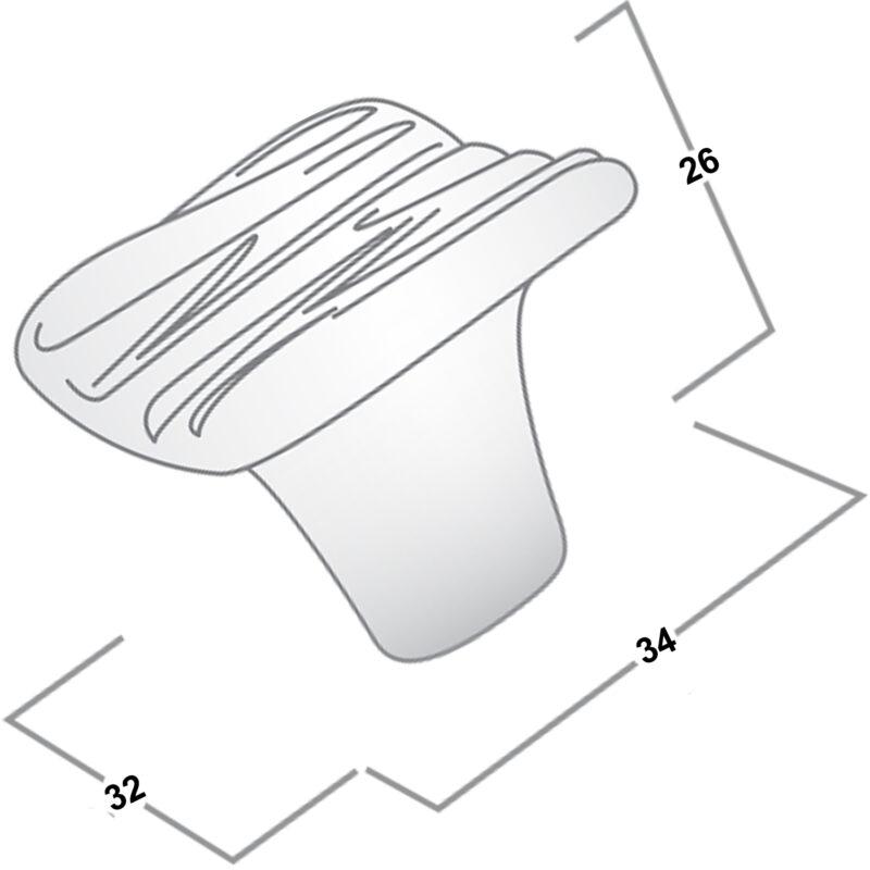 Castella Artisan Organic 34mm Pewter Knob 095 030 14 Diagram